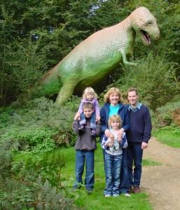 Family at Dino Park